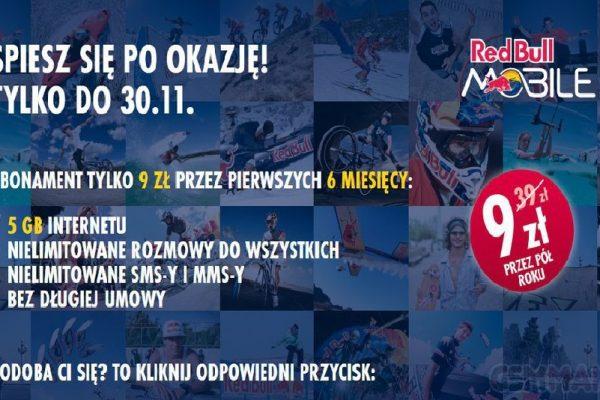 Red Bull Mobile Czarny Piątek