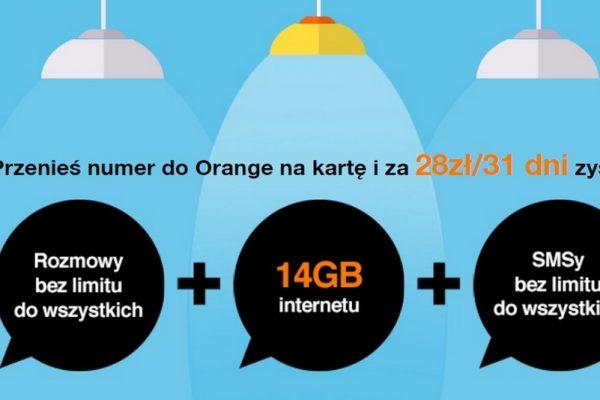 14 GB w ofercie na kartę z Orange