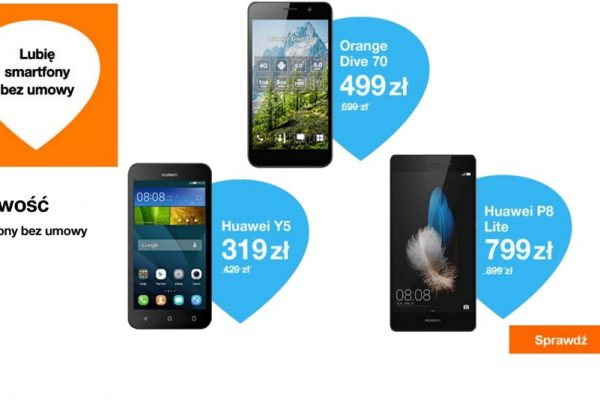 przecena smartfonów w Orange