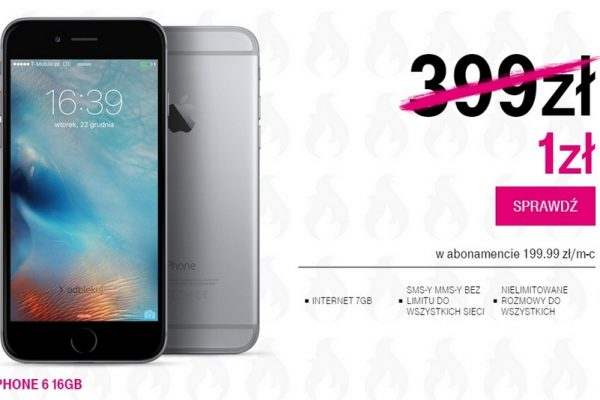 iPhone 6 w T-Mobile za 1 z
