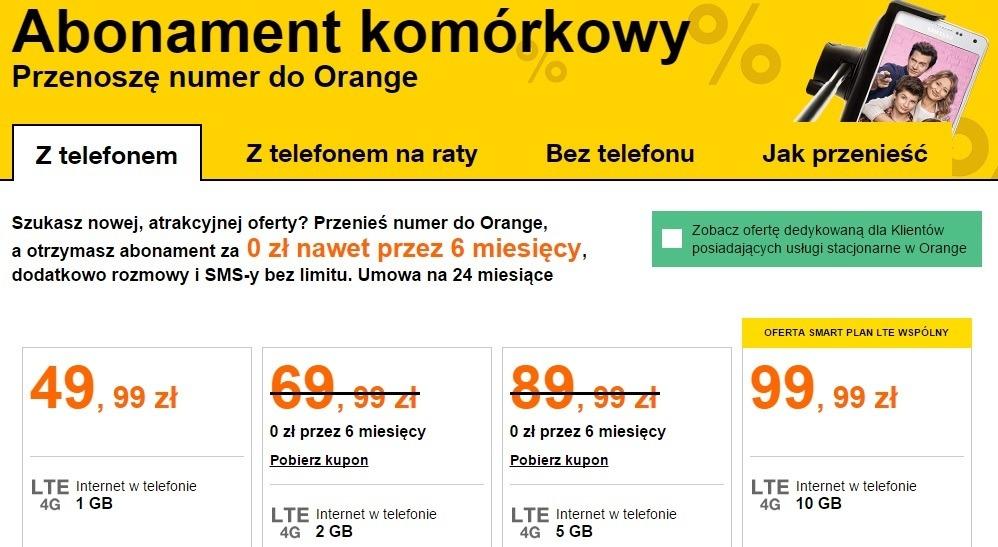 Przeniesienie Orange - glowna