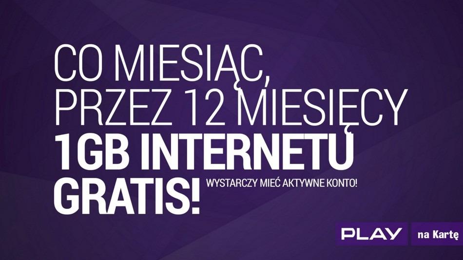 Darmowy Internet w Play na Kartę! | Komórkomat.pl