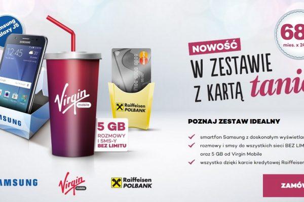 Smartfon, karta kredytowa i oferta no limit od Virgin Mobile w zestawie