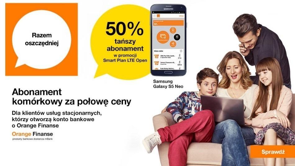 50% tańsza umowa w Orange Finanse