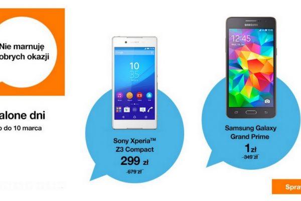 Przecenione smartfony w Orange
