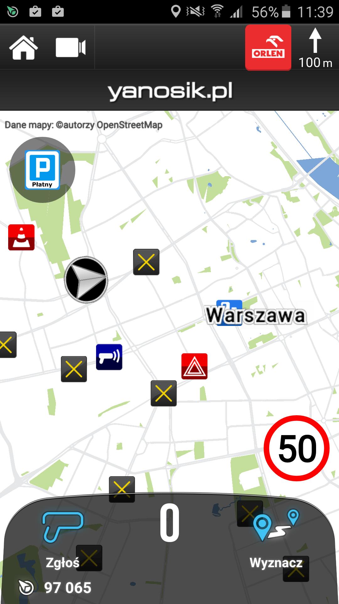 Yanosik aplikacja