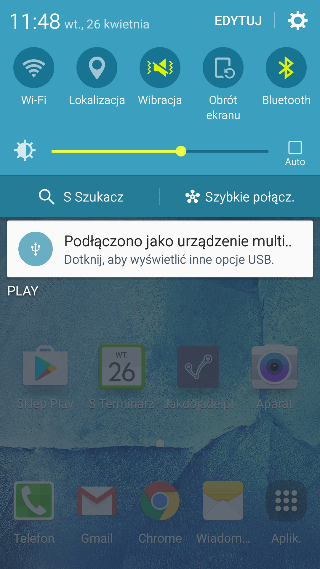 Ekran podlaczenia smartfona