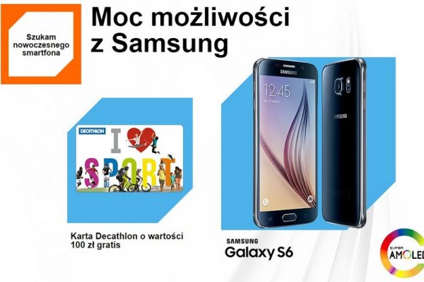 Samsung Galaxy S6 w Orange z kartą Decathlon