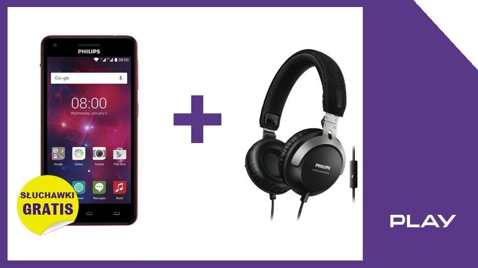 Xenium V377 i słuchawki w Play