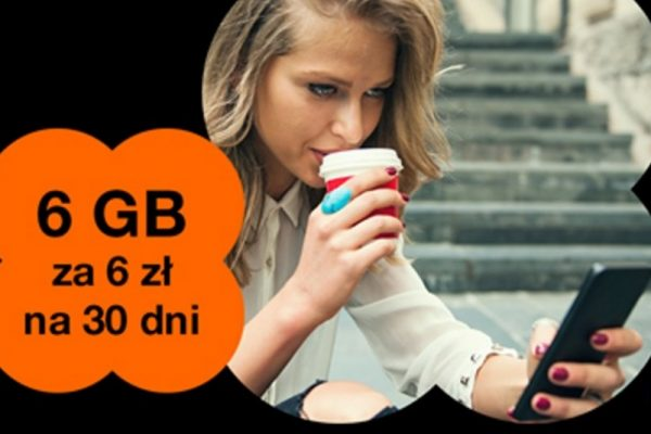 6 GB za 6 zł w Orange na kartę
