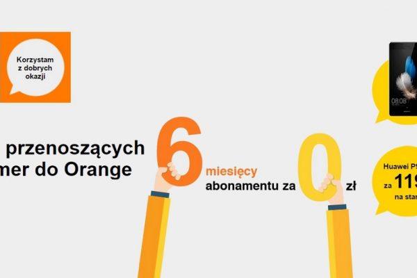 6 miesięcy za darmo w Orange za przeniesienie numeru