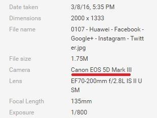Canon EXIF