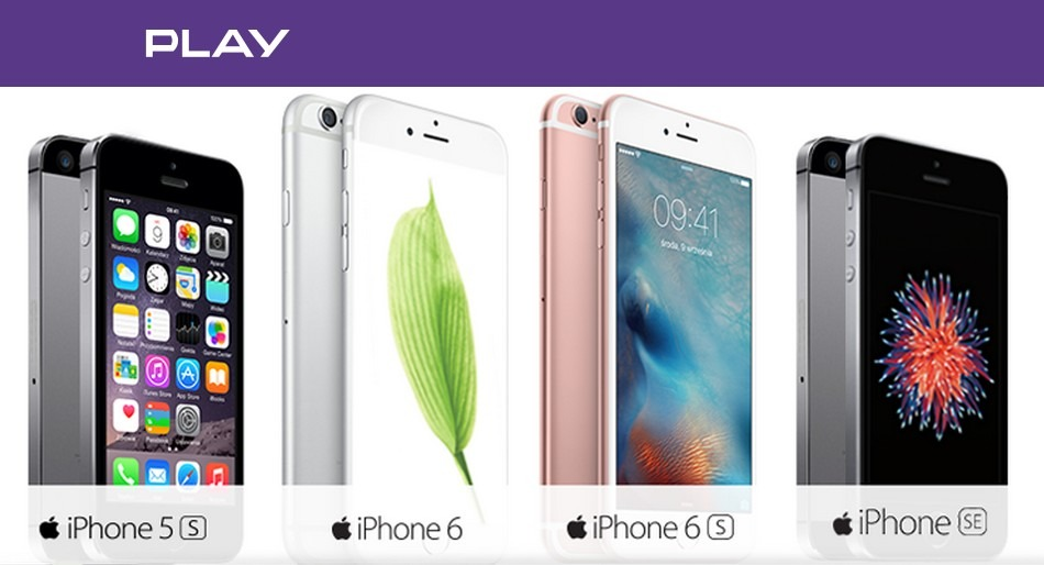 iPhone 5s, 6, 6s i SE za 1 zł w Play