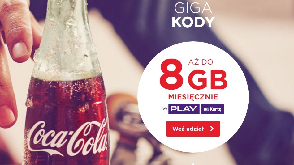 Play na kartę do 8 GB na miesiąc