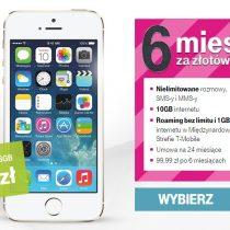 iPhone 5s od 9 zł z wieloma bonusami w T-Mobile