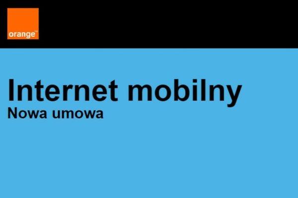 Bonusy online Internet mobilny Orange