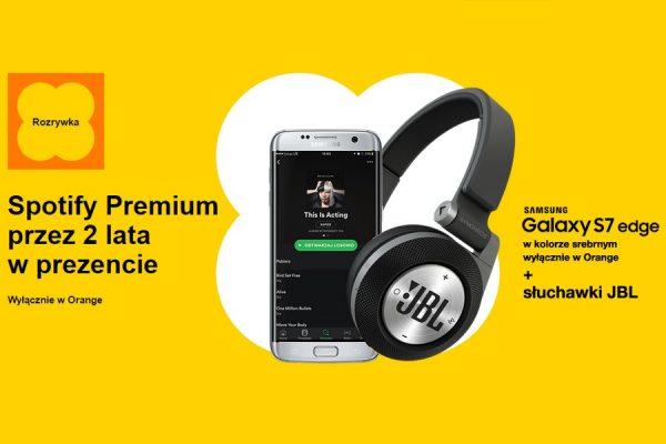 Orange Spotify Galaxy S7 Edge