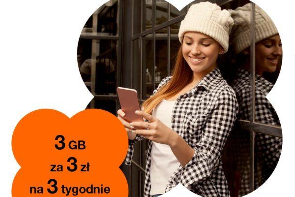3 GB w Orange za 3 zł