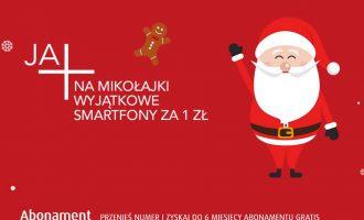 Mikołajki w Plusie – telefony za 1 zł