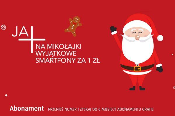 Smartfony na Mikołaja za 1 zł w Plus GSM