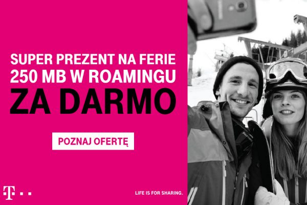 250 MB roamingu za free w T-Mobile