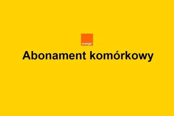 Abonament Orange