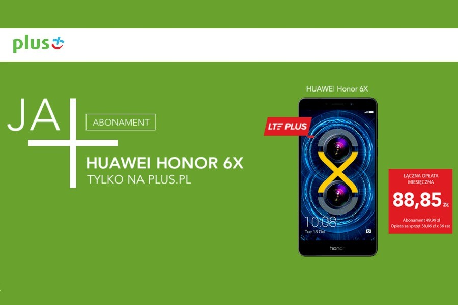 Honor 6X w Plusie
