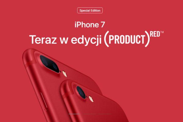 Czerwony iPhone 7