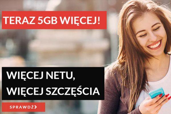 5 GB więcej w Premium Mobile