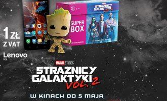 """Superbox T-Mobile – telefon za 1 zł + figurka z filmu """"Strażnicy galaktyki vol. 2"""""""