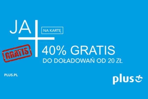40% ekstra w Plusie