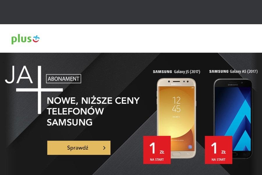 Samsungi w Plusie od 1 zł. W przypadku zamówienia nowego numeru koszt  abonamentu ... bc819b376eb