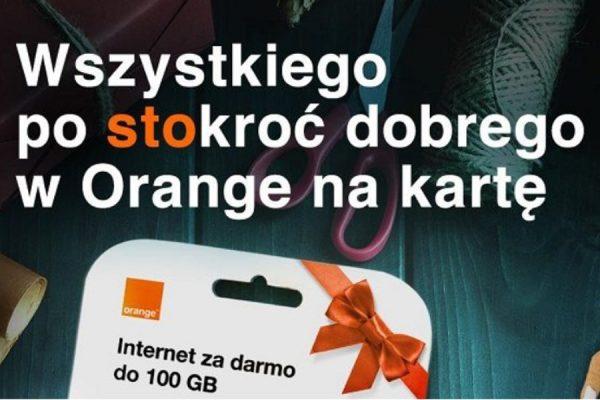 Darmowe 100 zł Orange