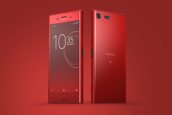 Czerwony Xperia XZ Premium Play