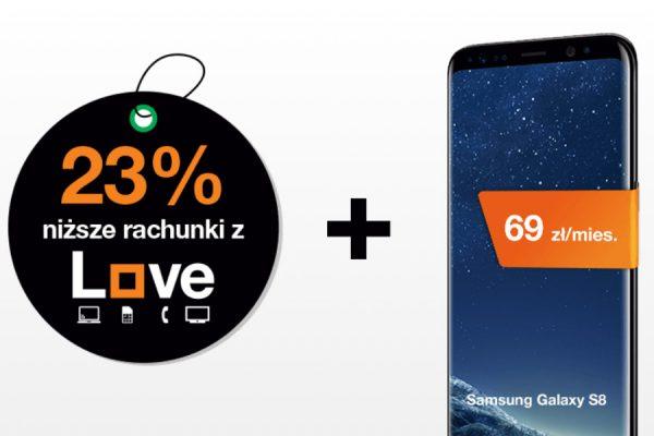 Orange Galaxy S8