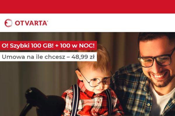 OTVARTA Internet mobilny 100 GB