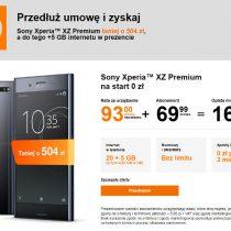 Sony Xperia XZ Premium taniej o 504 zł w Orange