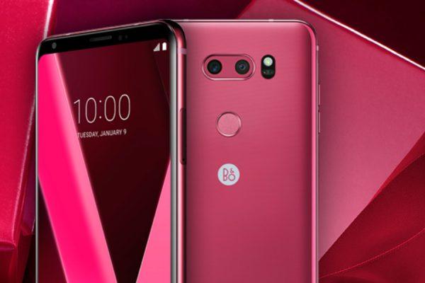 Różowy LG V30 promocja