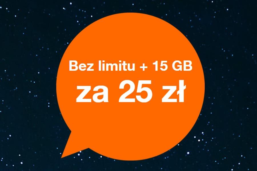 Orange 15 GB za 25 zł