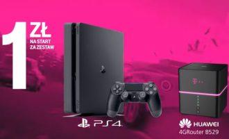 Nielimitowany Internet Domowy T-Mobile i PlayStation 4 za 1 zł!