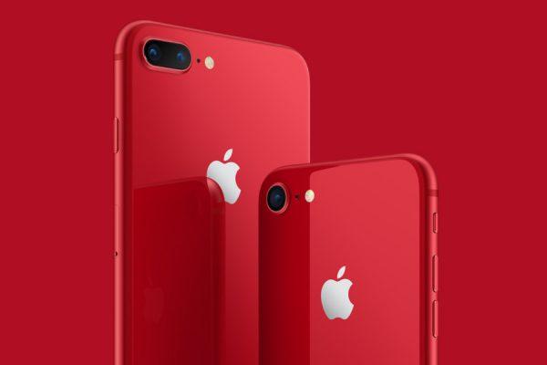 Czerwony iPhone 8