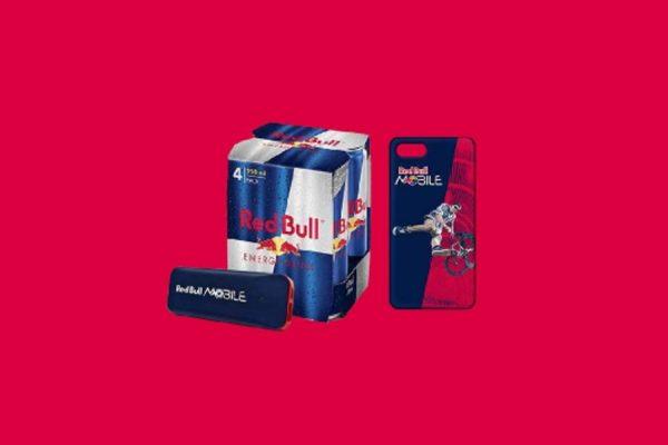 Czteropak Red Bulla pod drzwi