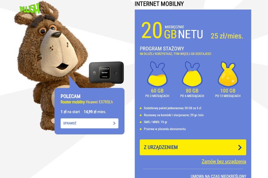 Plush Król Internetu