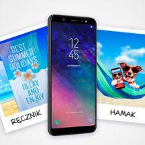 Samsung Galaxy A6+ z wakacyjnymi akcesoriami w Plusie za 1 zł