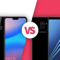 Samsung Galaxy A8 vs Huawei P20 Lite