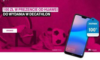 100 zł w prezencie od Huawei do wydania w Decathlonie