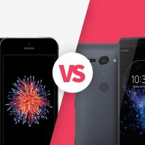 iPhone SE vs Sony Xperia XZ2 Compact