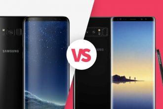Galaxy S8+ vs Galaxy Note 8