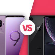 iPhone XR vs Samsung Galaxy S9