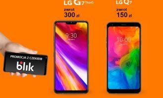 Promocja z czekiem Blik z 2 telefonami LG w Orange